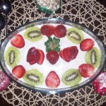 Choco Fruits Pudding