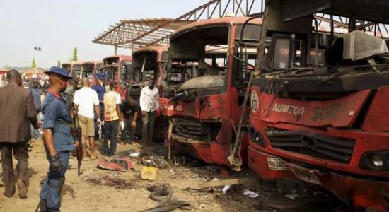 bus blast