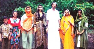 Abdul Kareem with his family