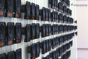 Rafael Lozano-Hemmer's sound installation 'Pan-anthem' at David Hall, Fort Kochi