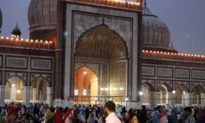 An iftar at Delhi Juma Masjid
