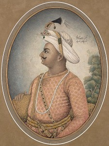 A portrait of Tipu Sultan.