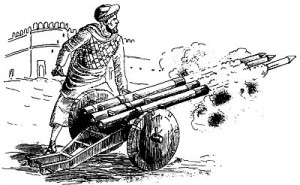 Mysorean rockets were pioneering Indian weapons as they were the first iron-cased rockets that were successfully deployed for military use in the world.