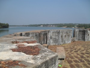 A strategically placed Sultan Battery watchtower 4kms from present day Mangalore city.