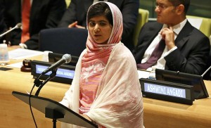 . They come along and elevate the life of a single fighter for women to have access to education – Malala Yusefsai – and celebrate her life. And then they go along and destroy hundreds of schools with students in them through their bombing campaigns.